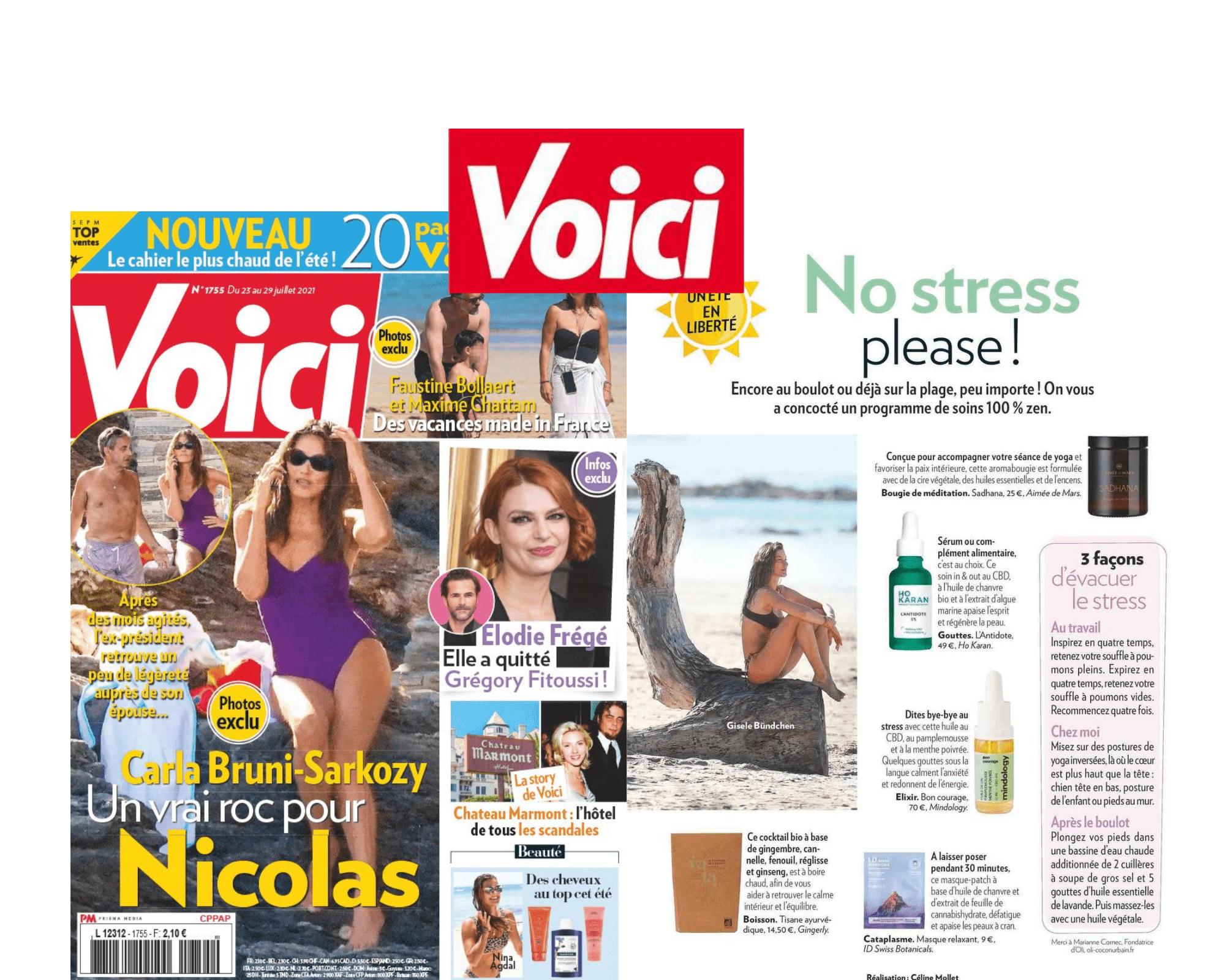 Article infusion vata - voici magazine - gingerly