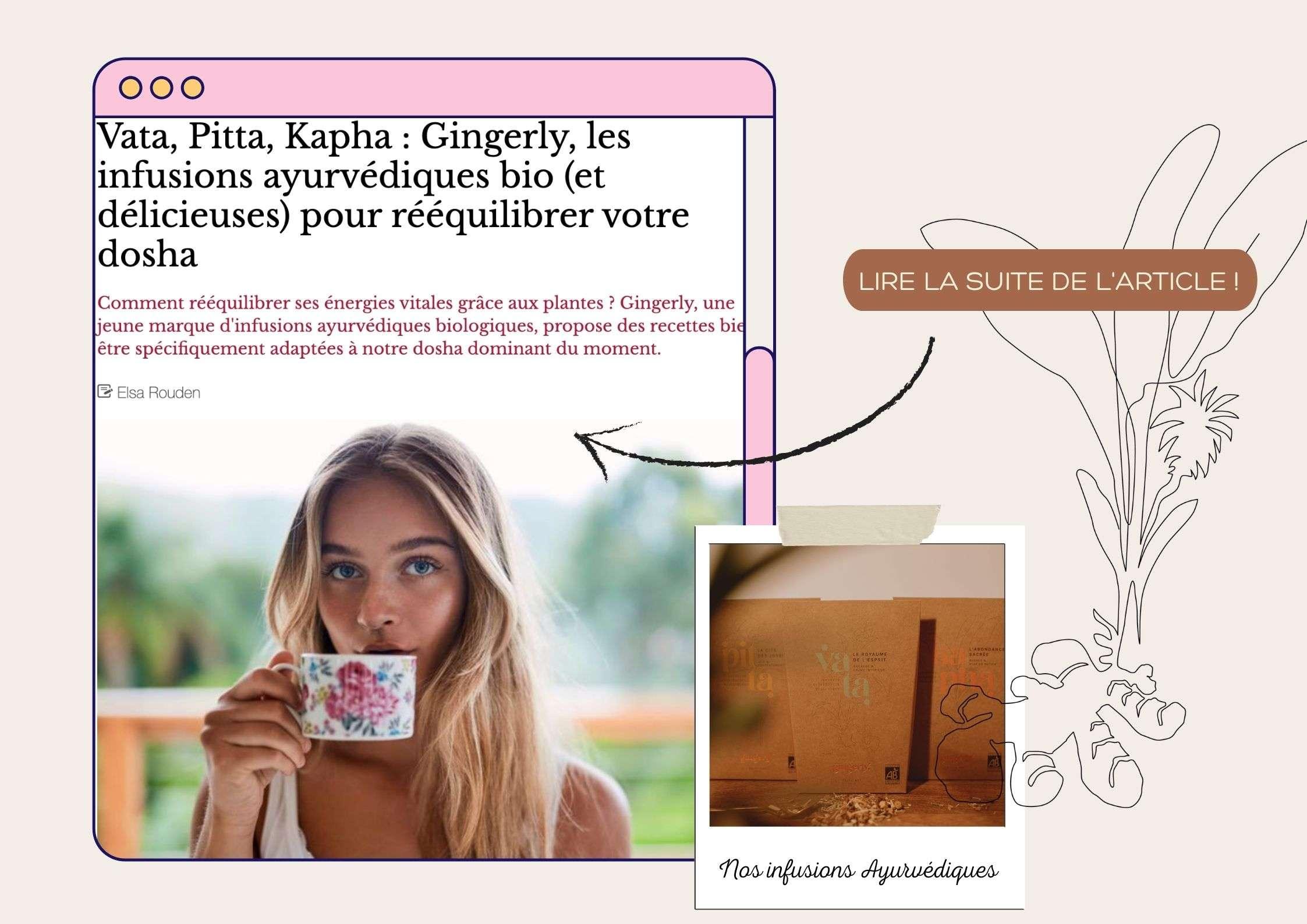 blog gingerly, version Femina, article